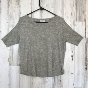 LOFT | Grey Short Sleeve Top Small